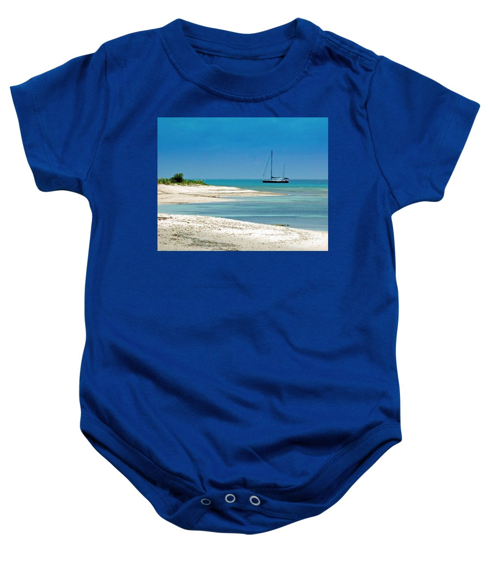 Boat Baby Onesie featuring the photograph Paradise Found by Debbi Granruth