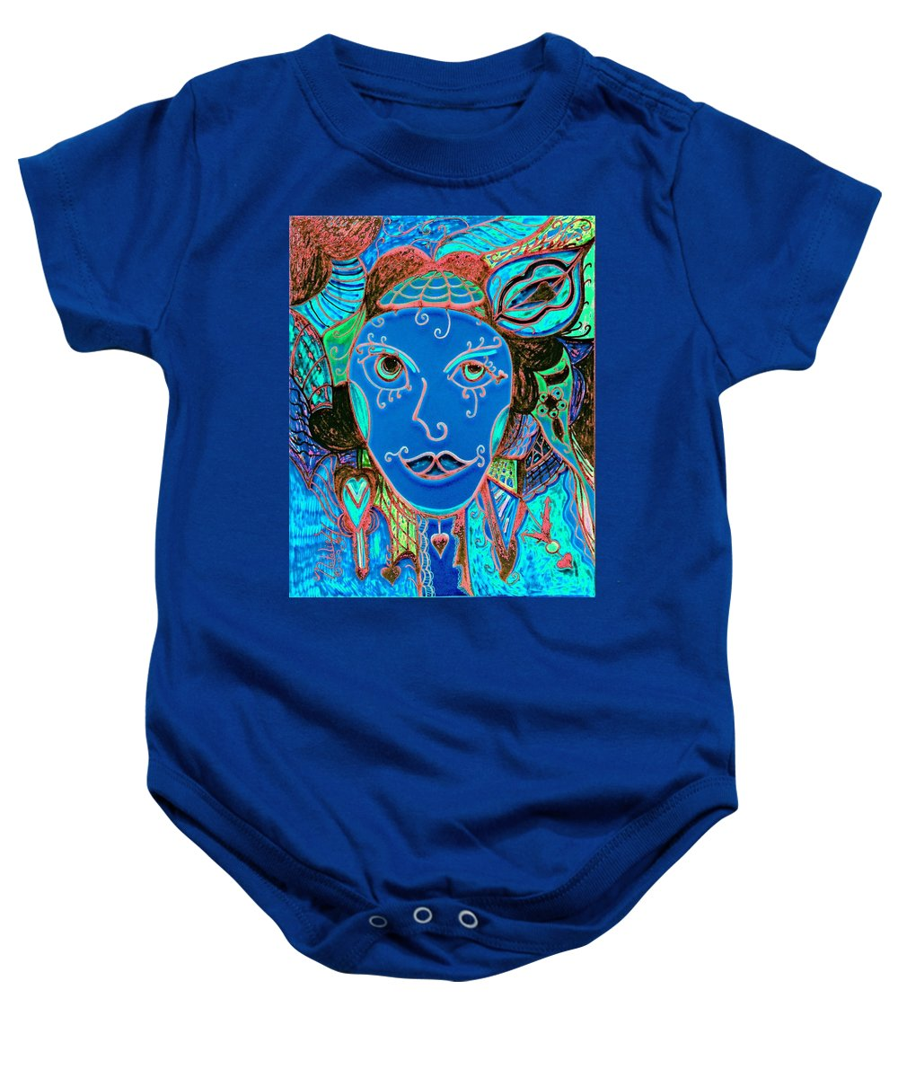 Party Girl Baby Onesie featuring the painting Party Girl by Natalie Holland