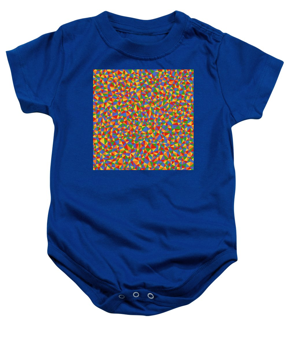 Abstract Baby Onesie featuring the painting Patience by Janet Hansen