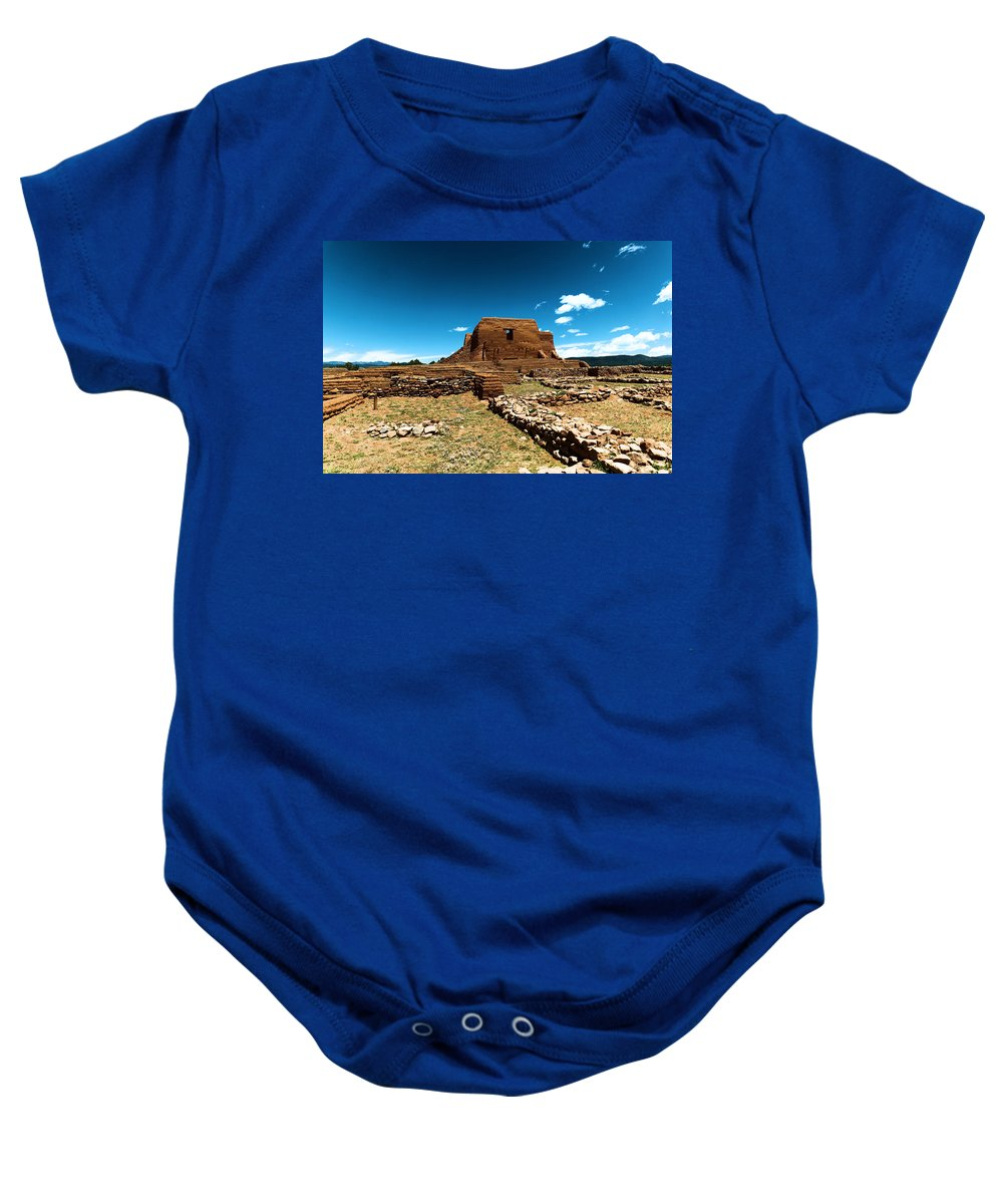 Ruins Baby Onesie featuring the photograph Pecos Ruins New Mexico by Jeff Swan