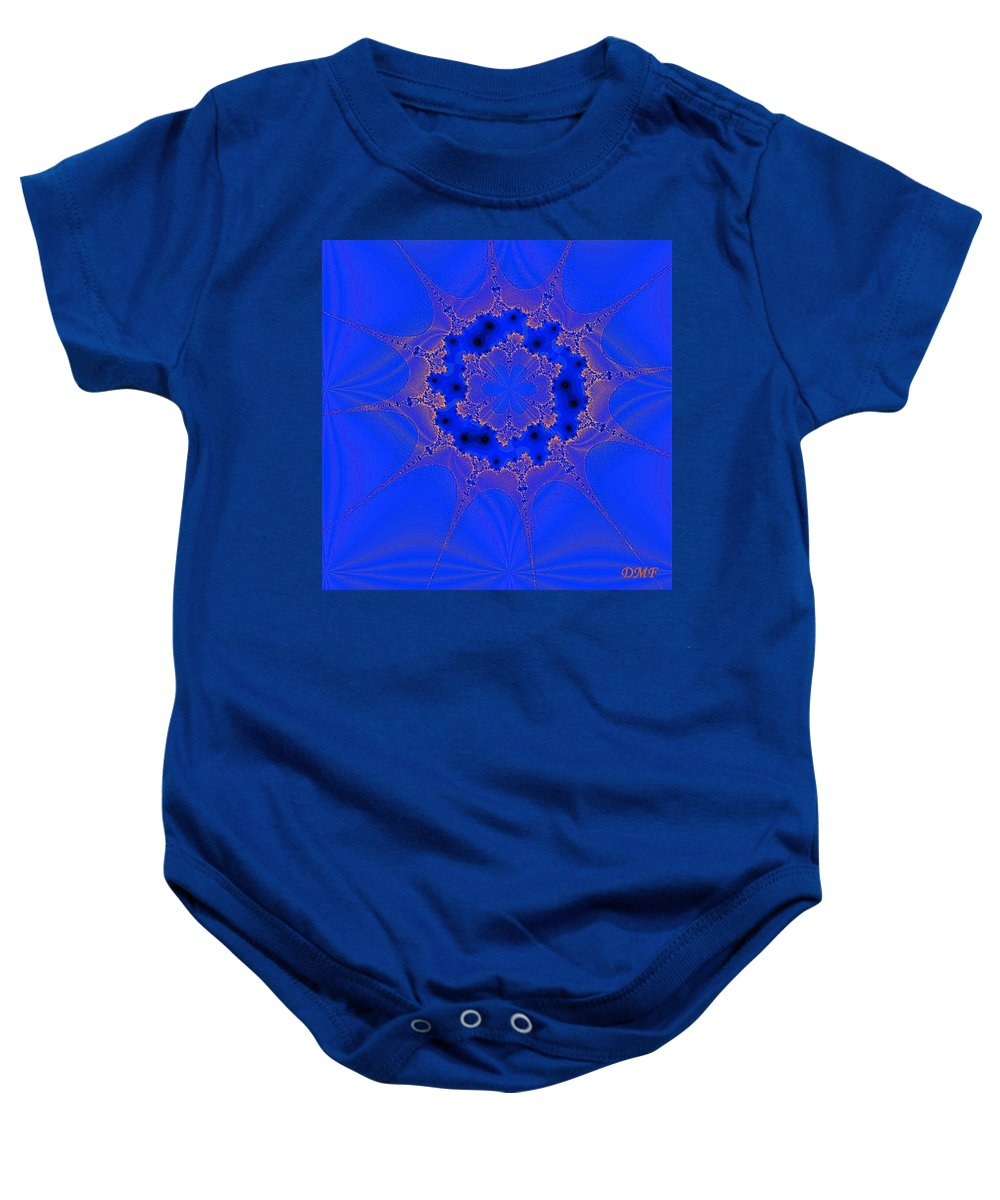Abstract Baby Onesie featuring the digital art Plankton 3 by Dragica Micki Fortuna