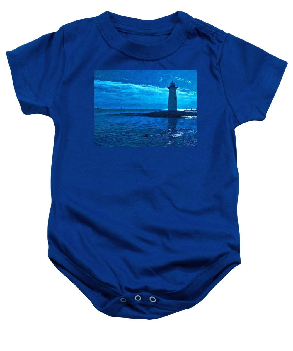 New England Lighthouse Baby Onesie featuring the photograph Portsmouth Harbor Lighthouse by Nancie DeMellia