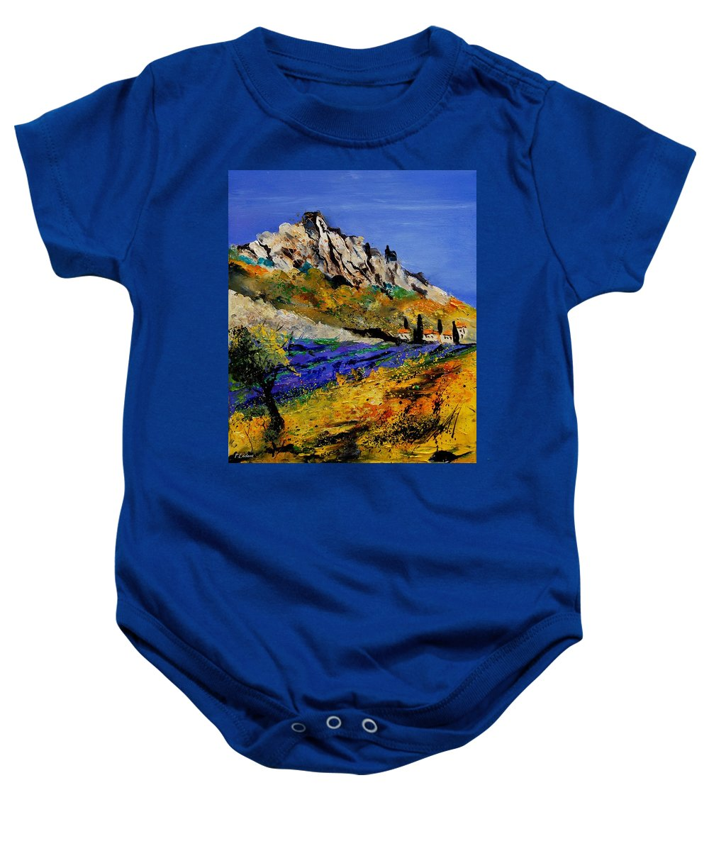Flowers Baby Onesie featuring the painting Provence 560908 by Pol Ledent