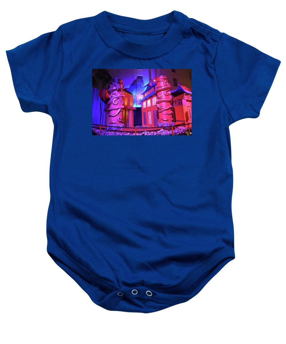 Purple Baby Onesie featuring the photograph Purple Pink Fantasy by Denise Mazzocco
