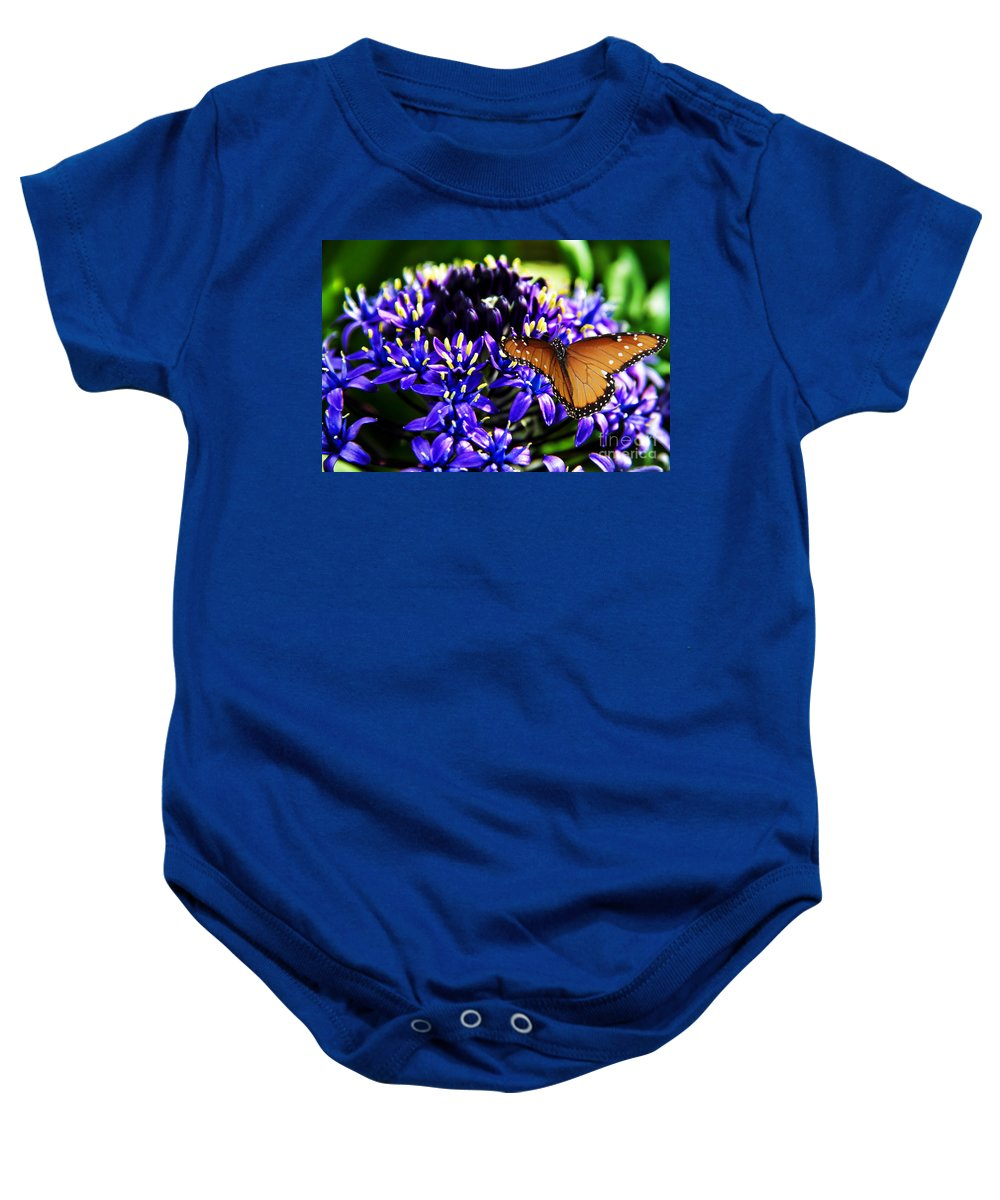 Purple World Baby Onesie featuring the photograph Purple World by Mariola Bitner