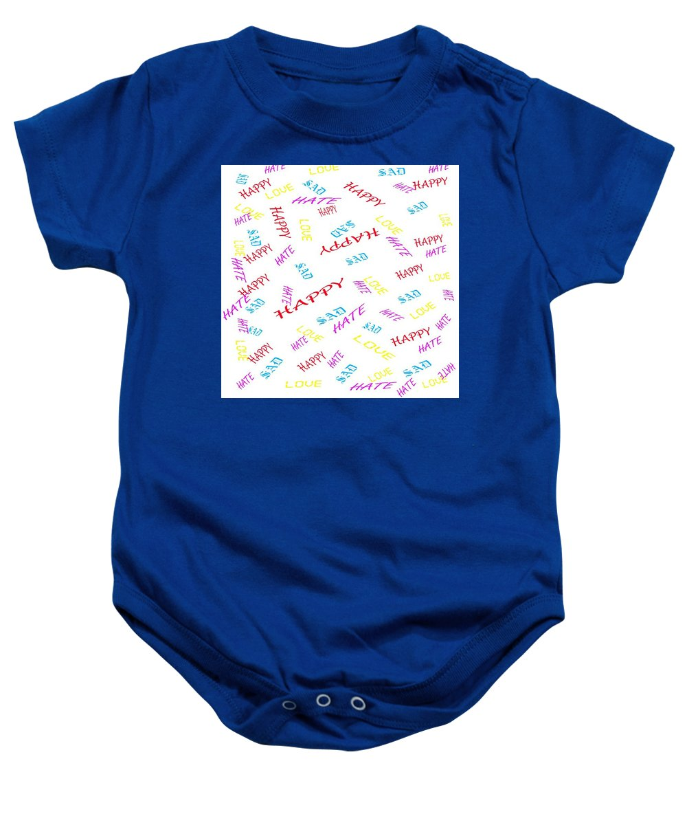 Love Baby Onesie featuring the digital art Quoted Emotions by Jacqueline Smith