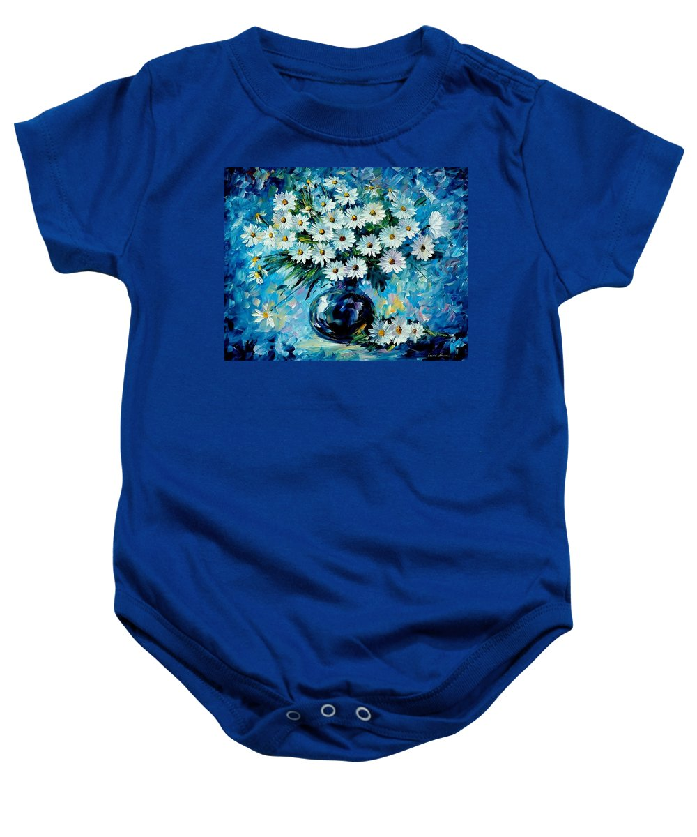 Floral Baby Onesie featuring the painting Radiance by Leonid Afremov