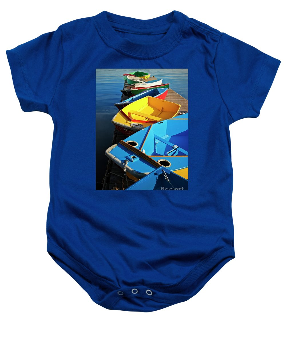 Sailing Baby Onesie featuring the photograph Rainbow Of Prams by Christopher Marona