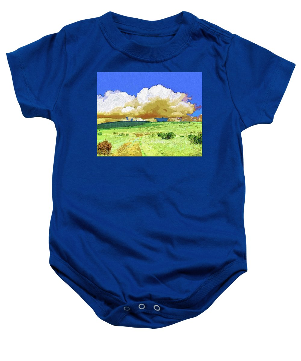 Rain Baby Onesie featuring the painting Rainmaker by Dominic Piperata