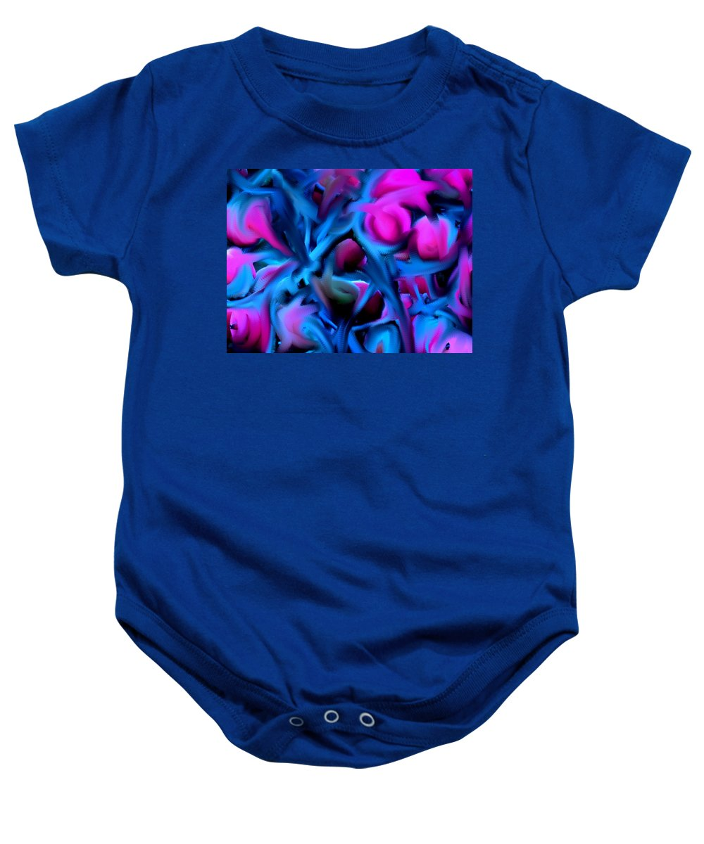 Abstract Baby Onesie featuring the digital art Reality Altered by Ian MacDonald