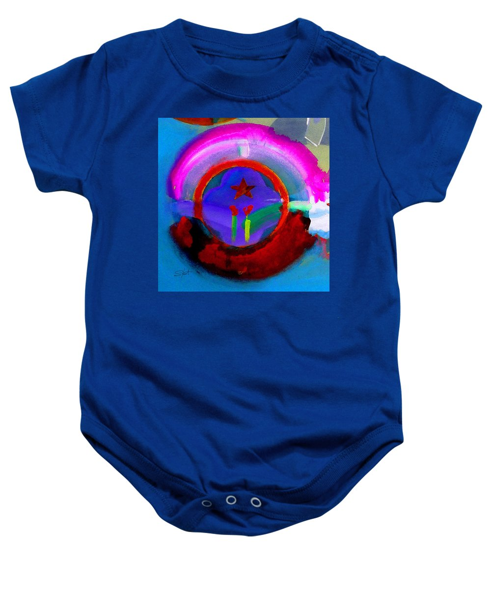 Love Baby Onesie featuring the painting Regeneration by Charles Stuart