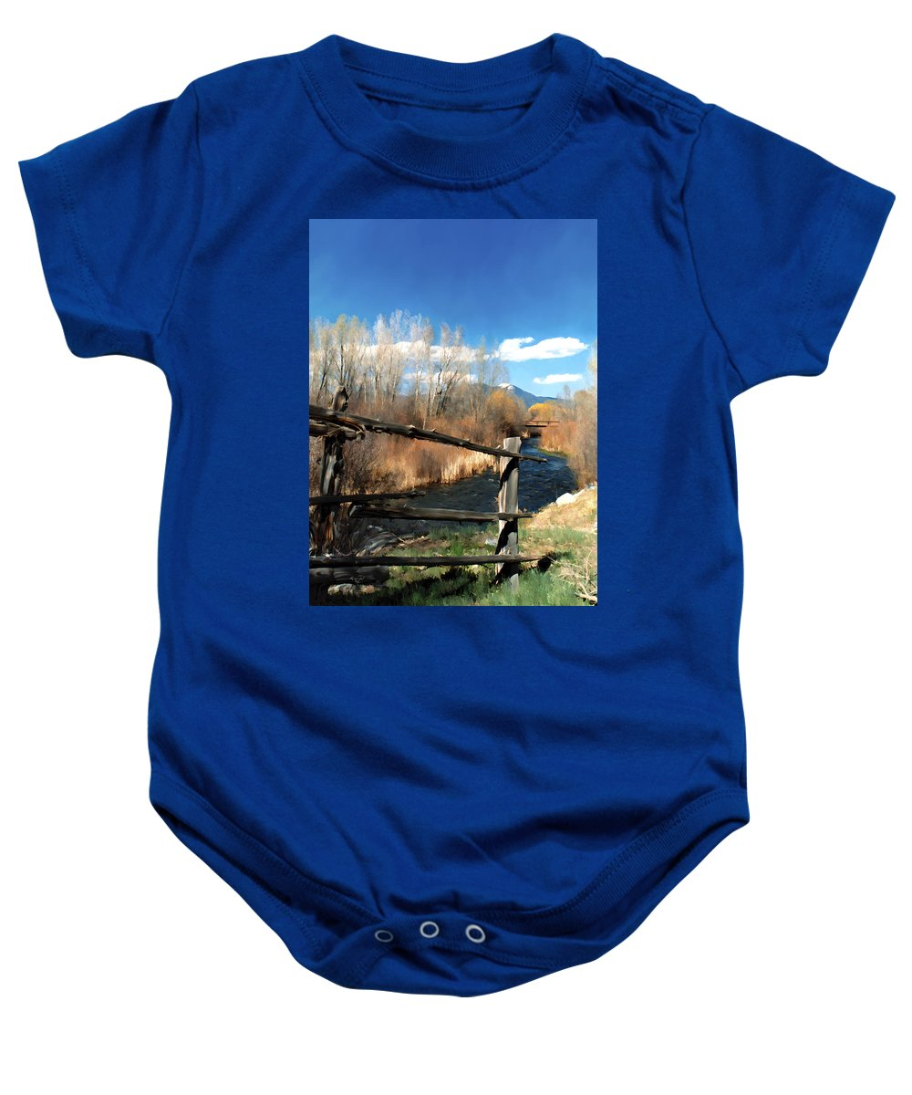 River Baby Onesie featuring the photograph Rio Pueblo by Kurt Van Wagner