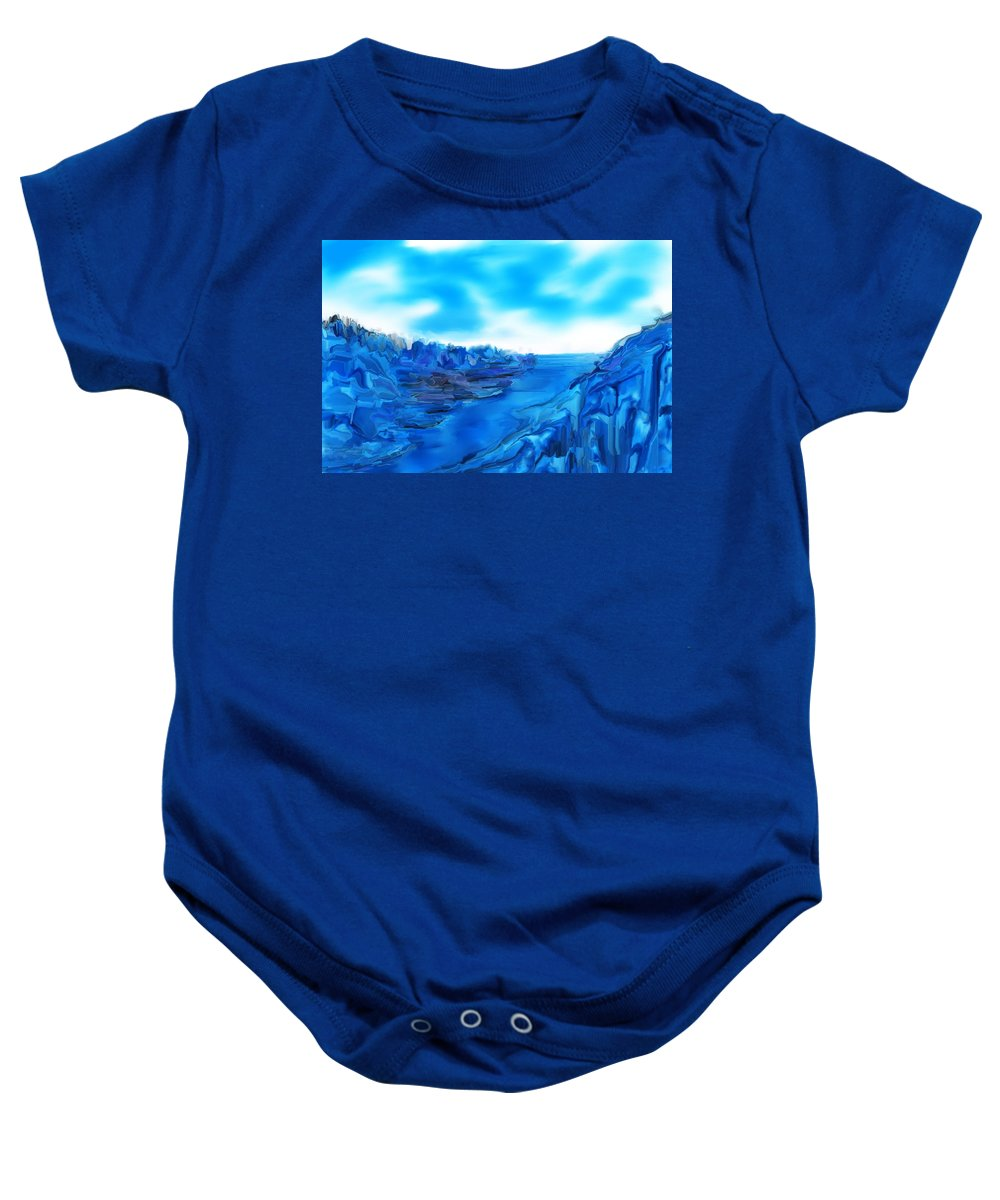 Abstracts Baby Onesie featuring the digital art Rocks And Hard Places by David Lane