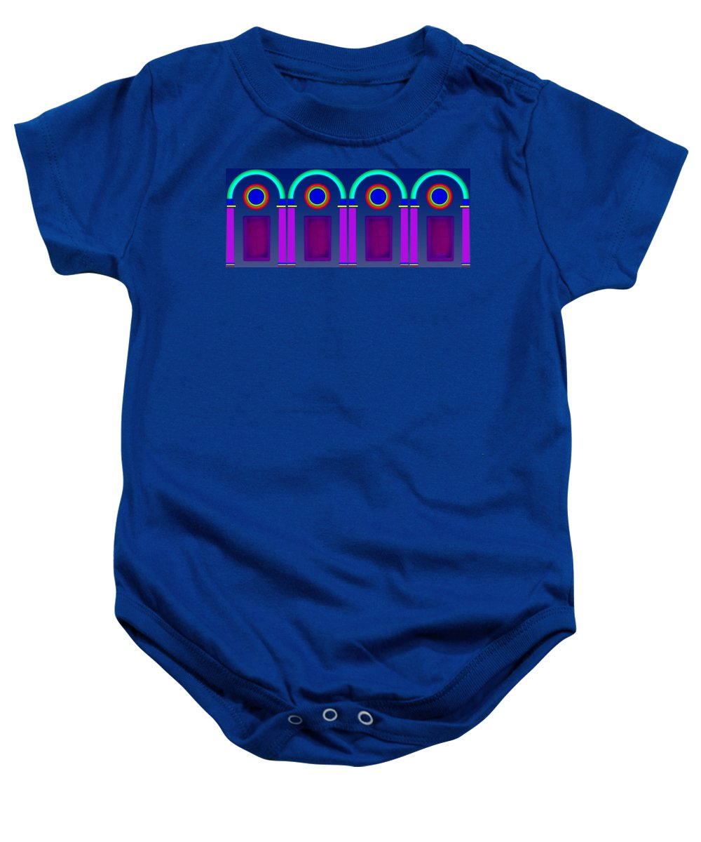 Classical Baby Onesie featuring the digital art Roman Architecture by Charles Stuart