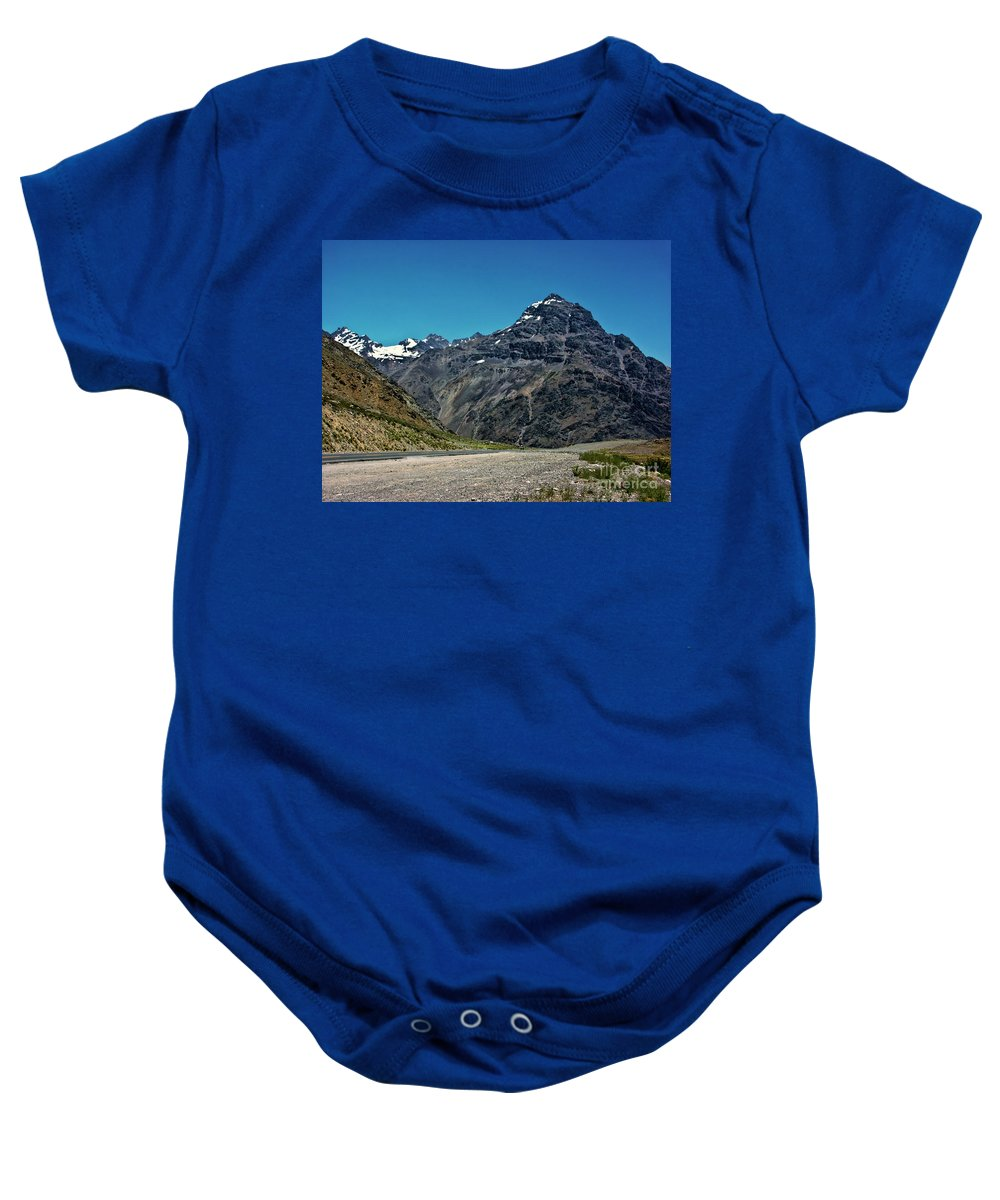Mountains Baby Onesie featuring the photograph Rugged Beauty by Roberta Bragan