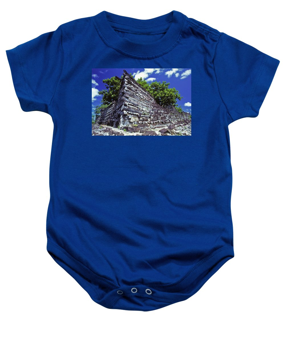 Archaeology Baby Onesie featuring the photograph Ruins Of Nan Madol by Dave Fleetham - Printscapes
