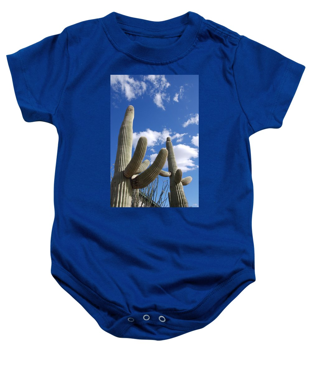 Photography Baby Onesie featuring the photograph Saguaro Cacti by Susanne Van Hulst