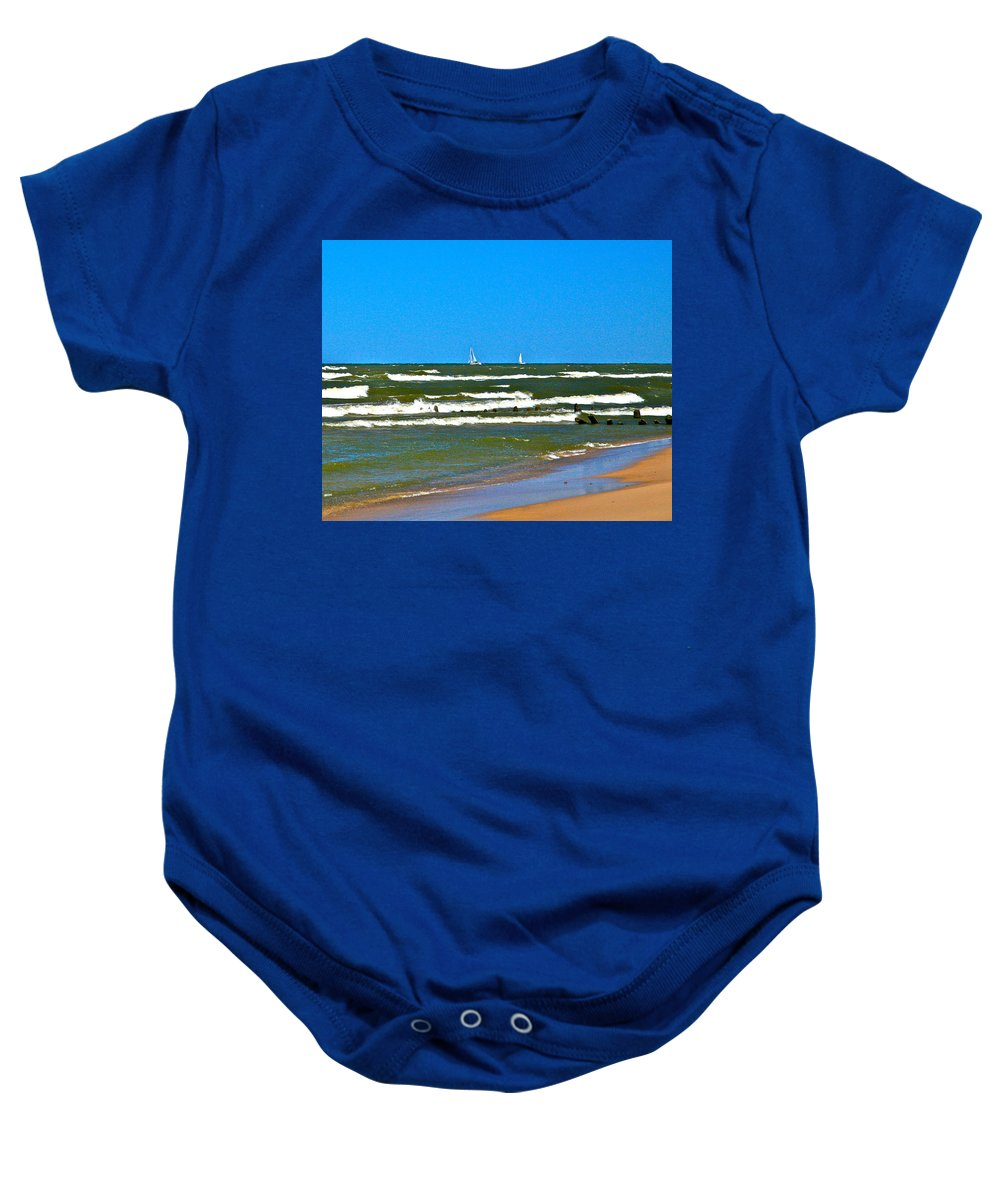 Water Baby Onesie featuring the photograph Sailing Away by Robert Pearson
