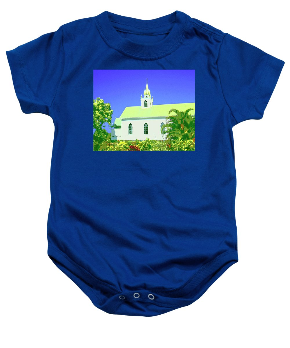 Church Baby Onesie featuring the mixed media Saint Benedict by Dominic Piperata