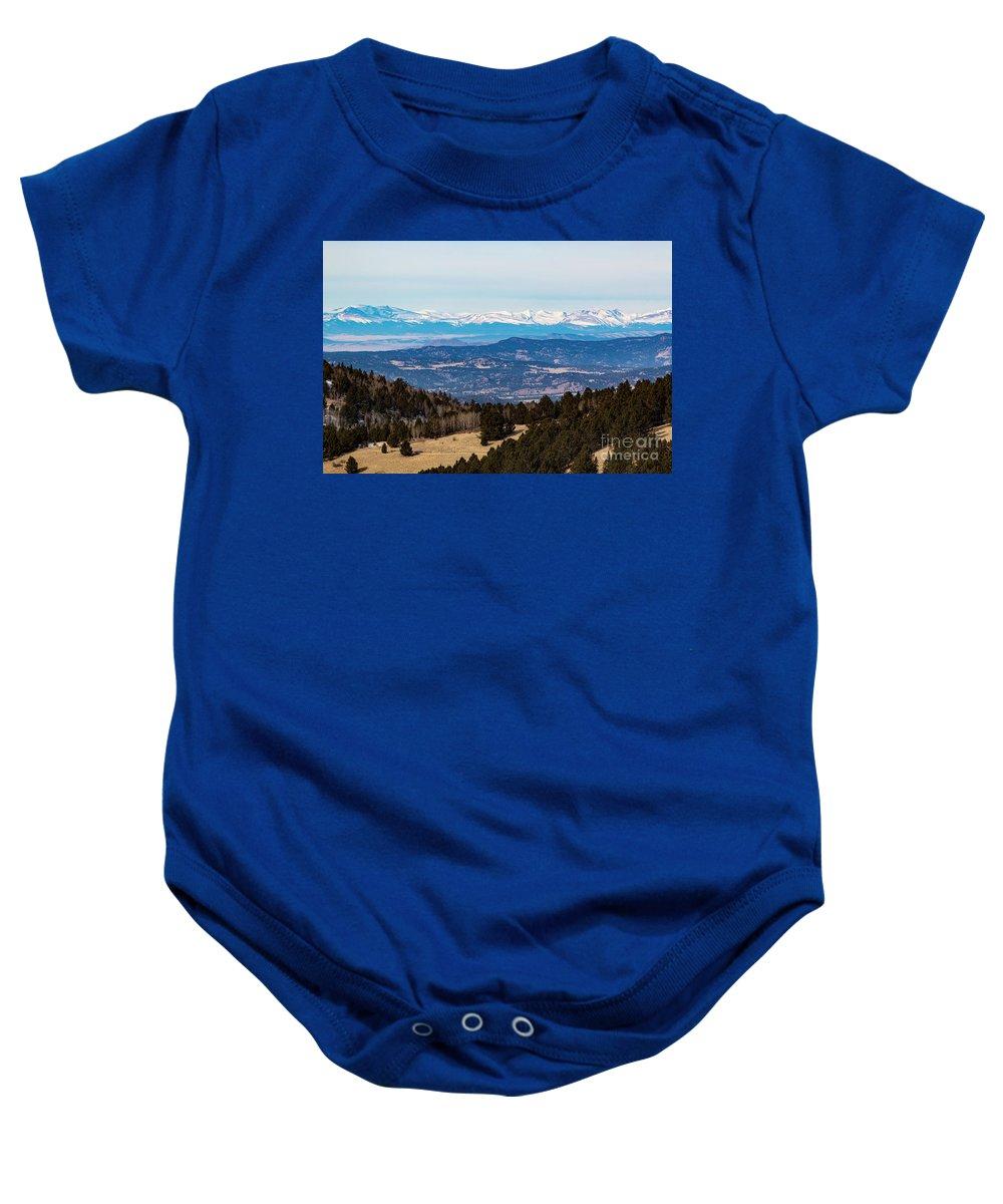 Sangre De Cristo Baby Onesie featuring the photograph Sangre De Cristo Mountain Valley by Steve Krull