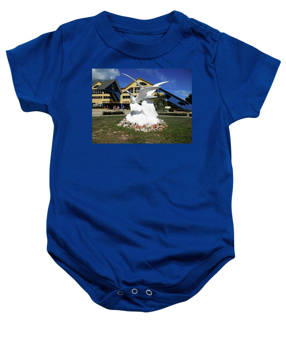 Statue Baby Onesie featuring the photograph Seabird Statue by Pema Hou