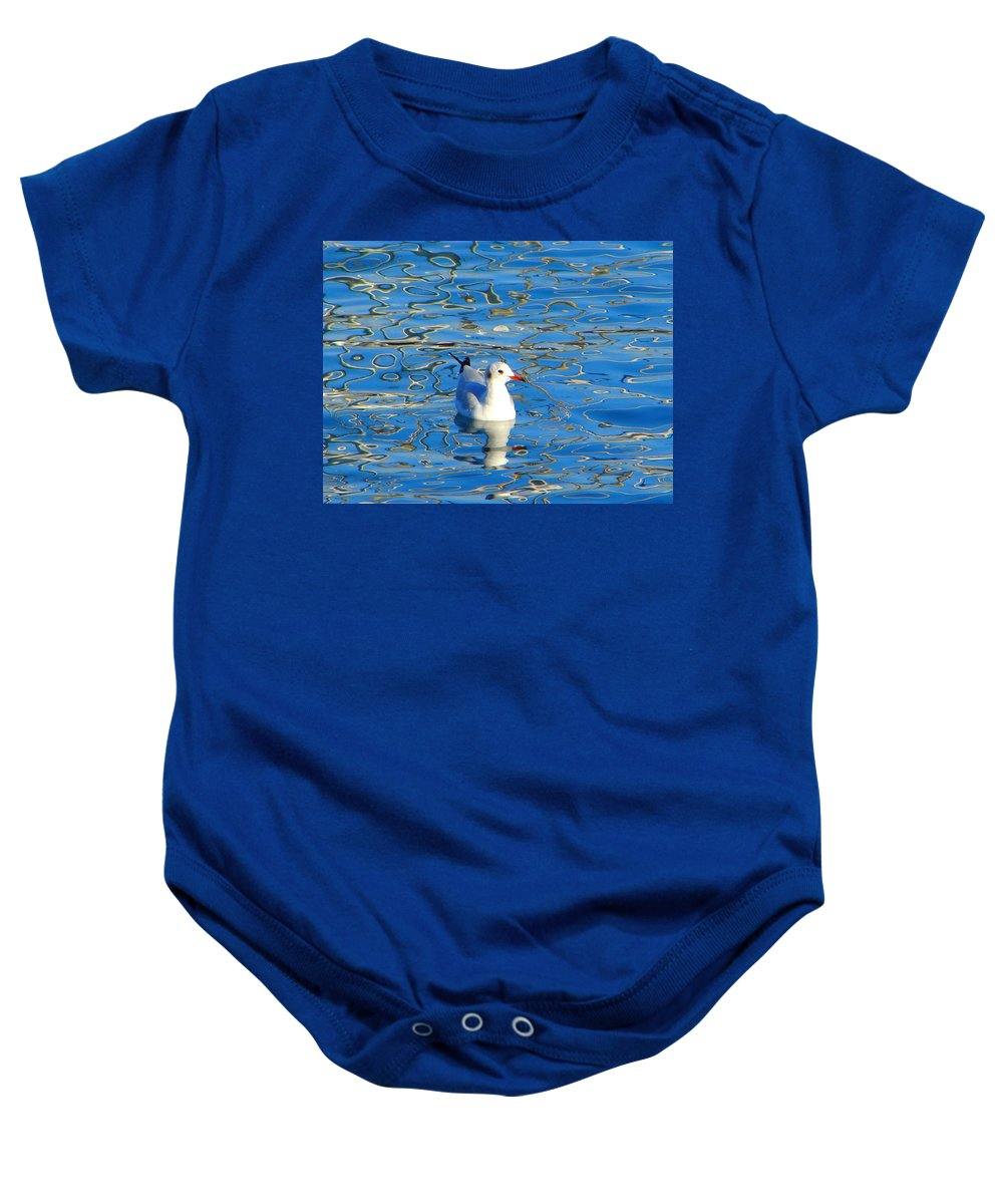 Seagull Baby Onesie featuring the photograph Seagull by Ana Maria Edulescu