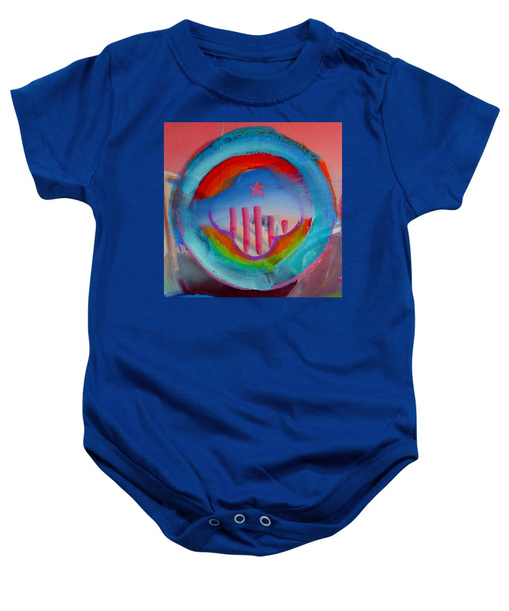 Logo Baby Onesie featuring the painting Ship Of State by Charles Stuart