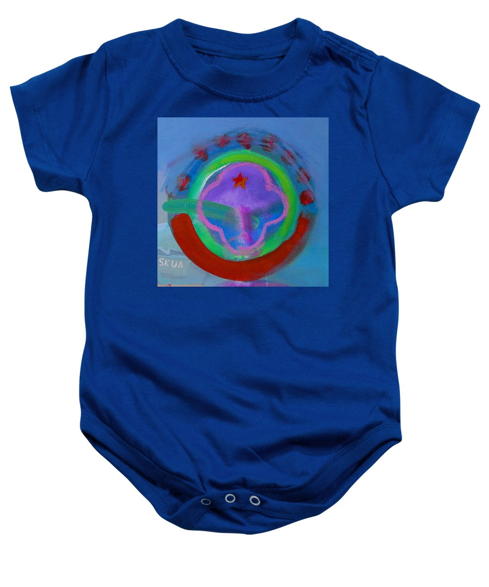 Love Baby Onesie featuring the painting Skua by Charles Stuart