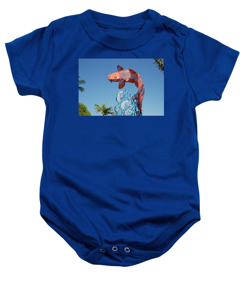Abstract Baby Onesie featuring the photograph Skyfish by Rob Hans