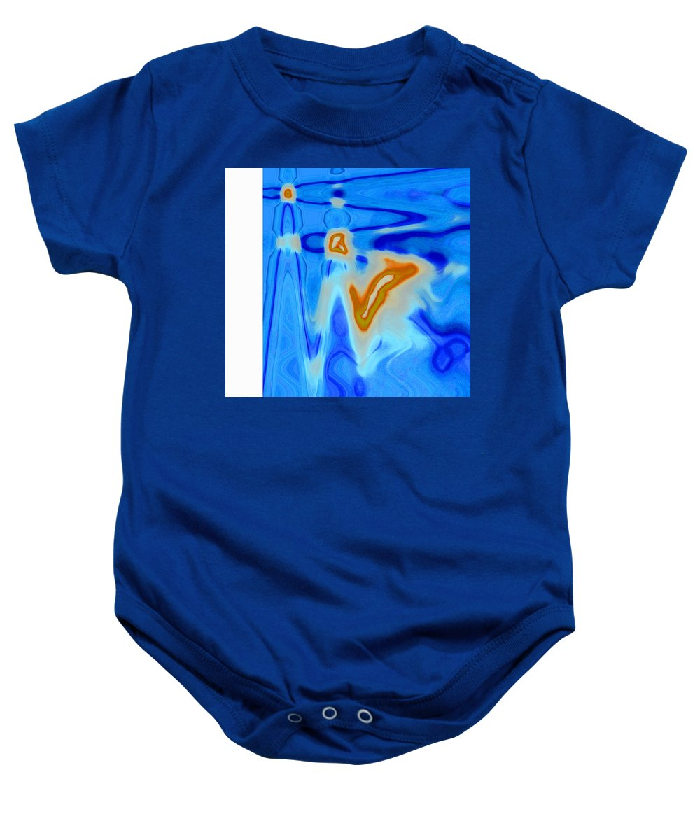 Humor Baby Onesie featuring the digital art So Doc--what Do You Think Is Wrong by Lenore Senior