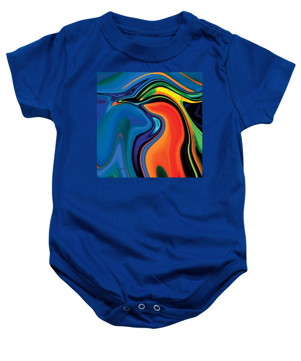 Abstract Baby Onesie featuring the digital art Soul Bird 2 by Rabi Khan