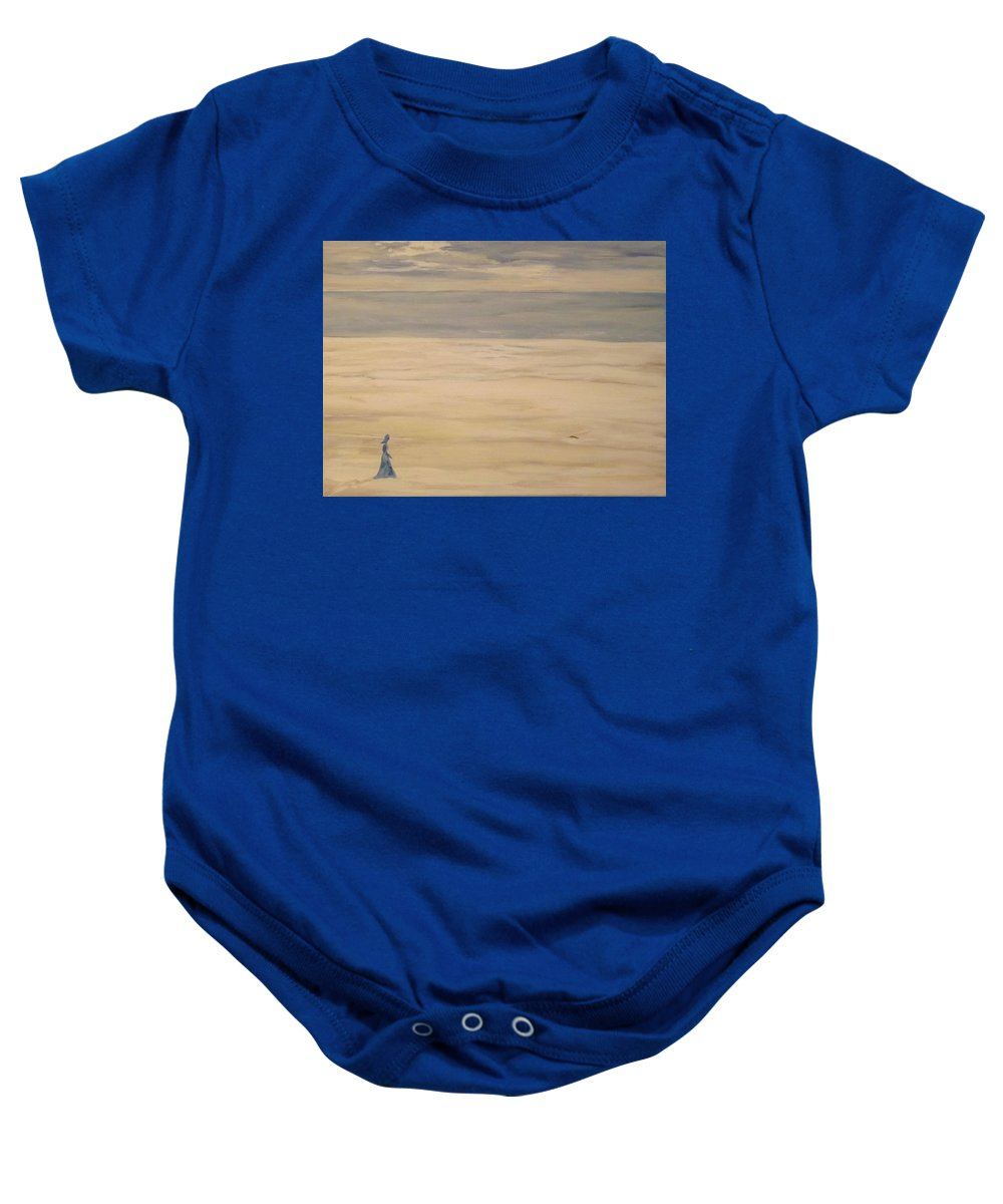 Landscape Baby Onesie featuring the painting Soul Searching by Denise Morgan