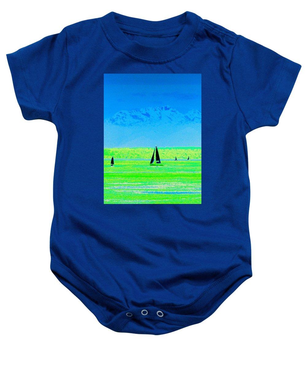 Sail Baby Onesie featuring the photograph Sound Sailin by Tim Allen