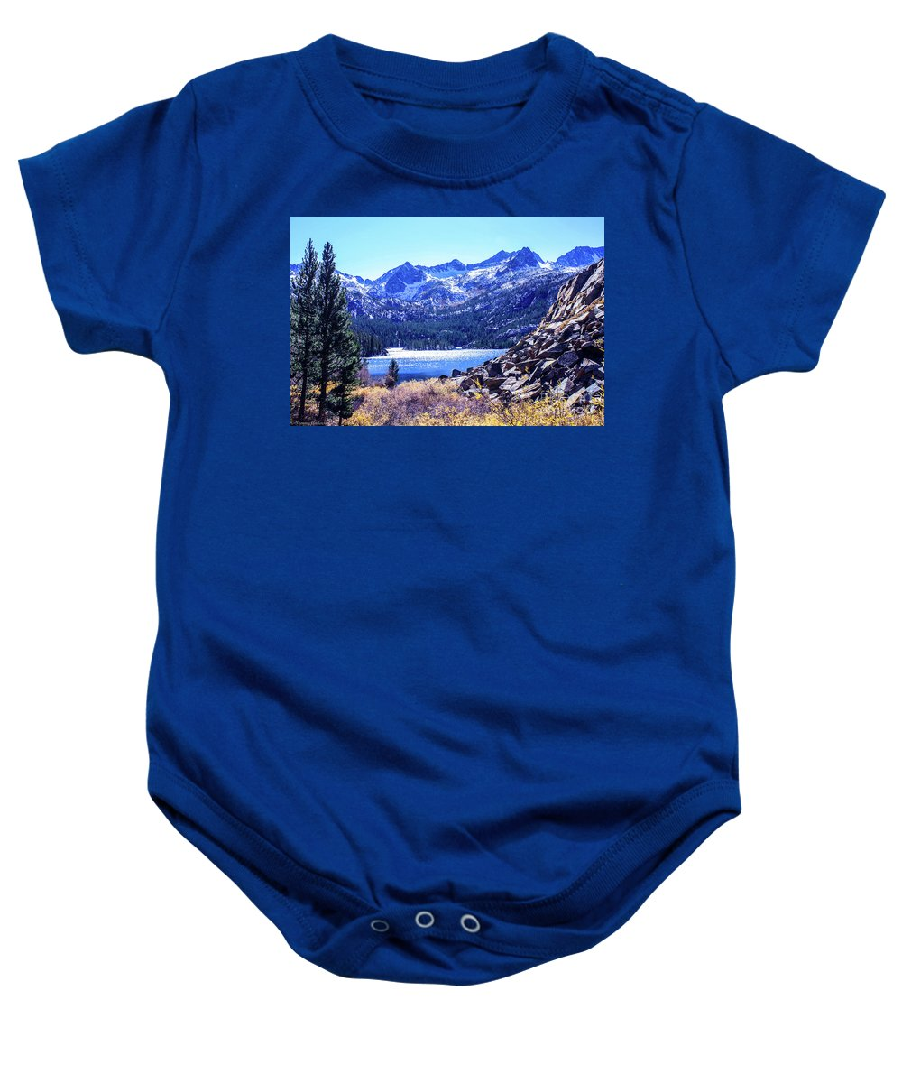 South Lake Baby Onesie featuring the photograph South Lake by Tommy Anderson