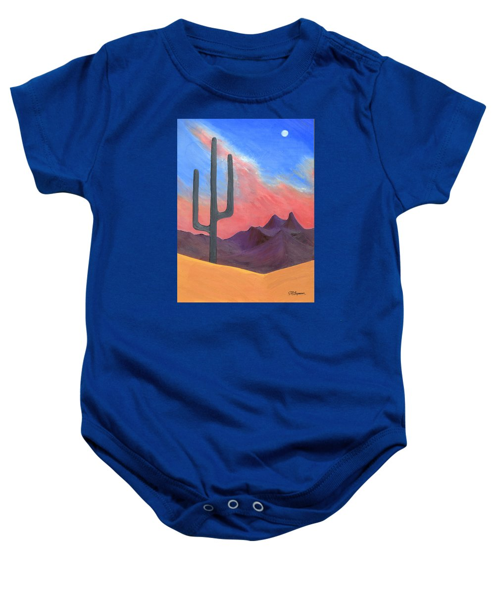 Cactus Baby Onesie featuring the painting Southwest Scene by J R Seymour