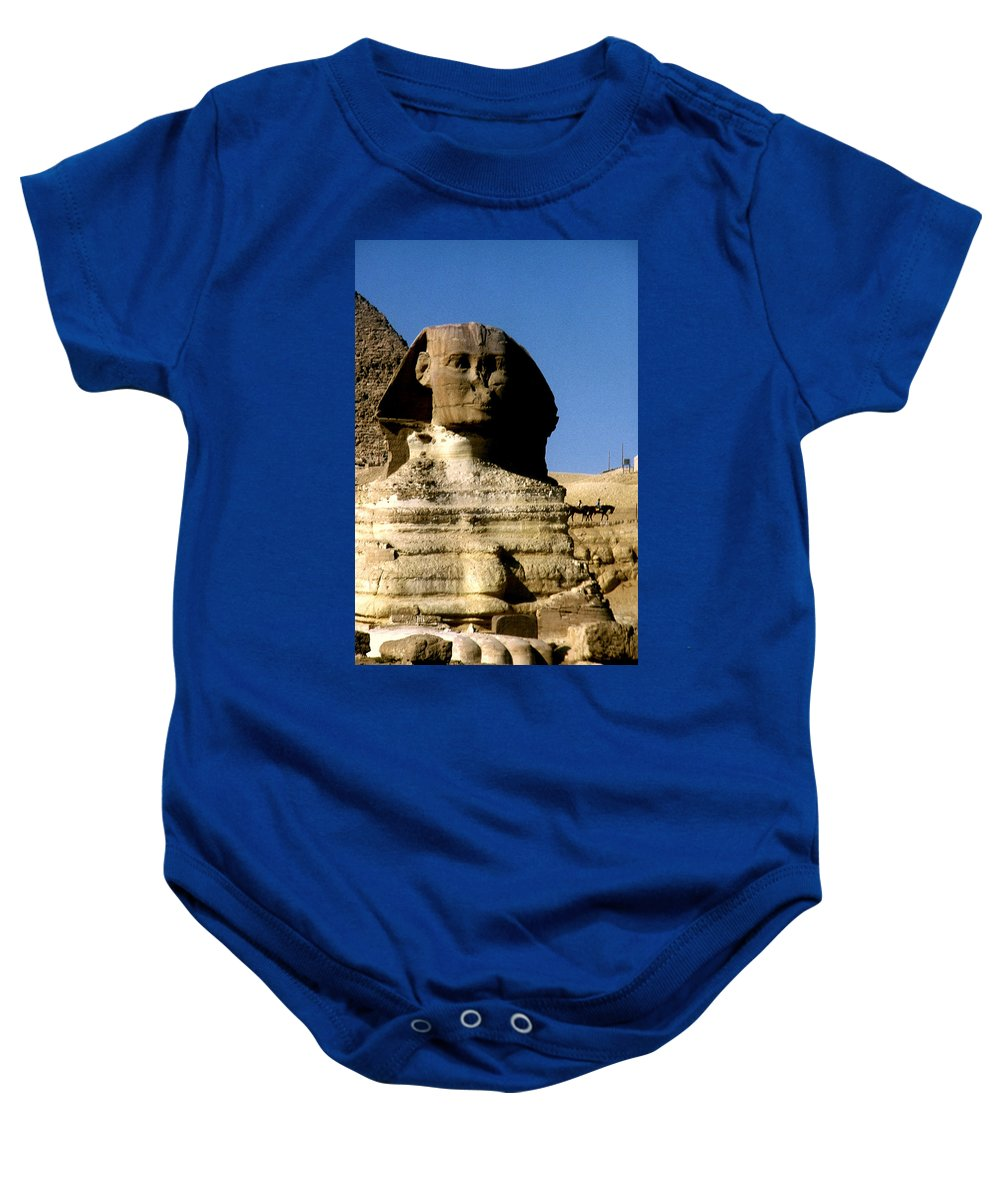 Sphinx Baby Onesie featuring the photograph Sphinx by Gary Wonning