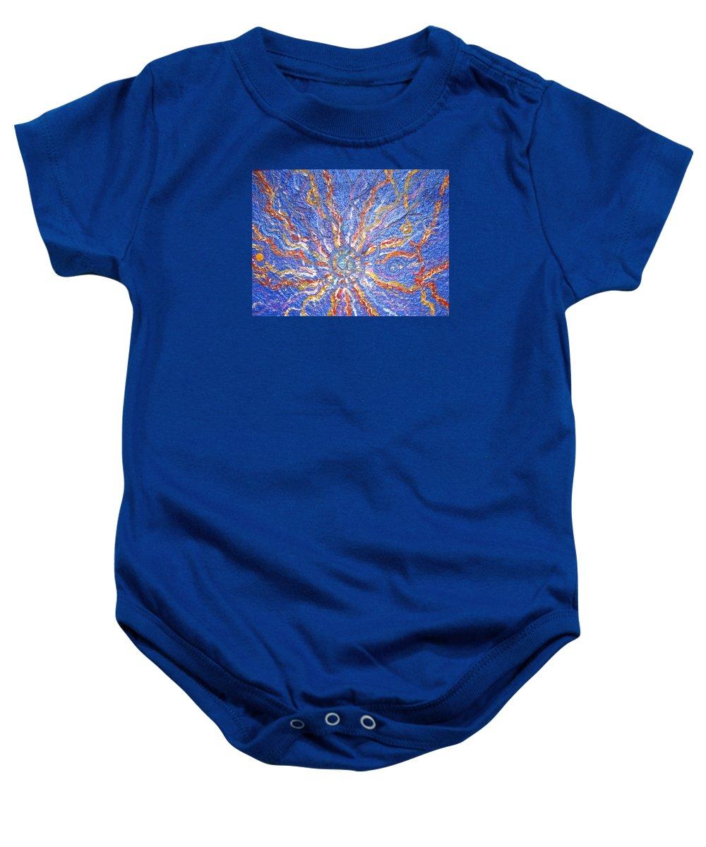 Spiritual Symbol Baby Onesie featuring the painting Spirale Money Magnet by Joanna Pilatowicz