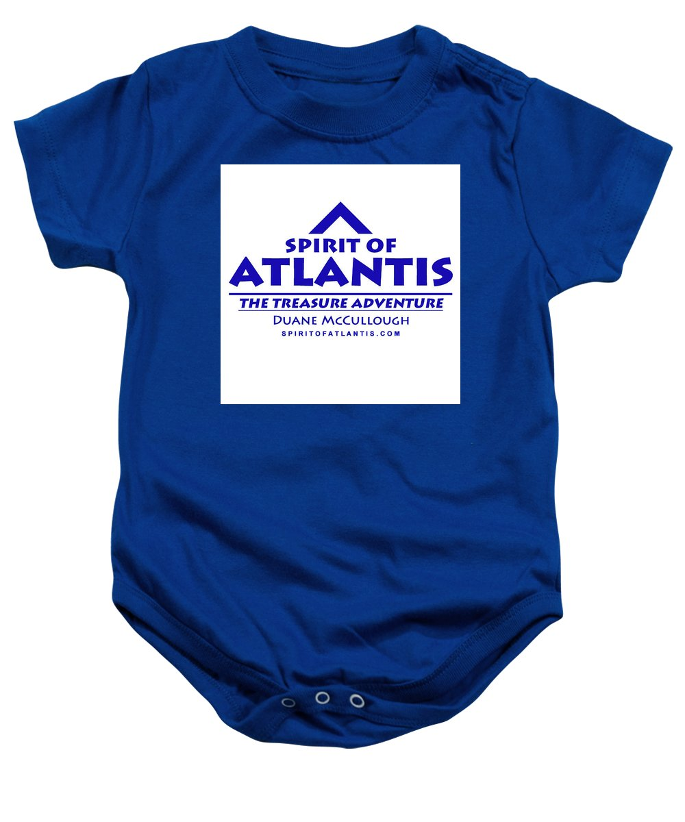 Duane Mccullough Baby Onesie featuring the photograph Spirit Of Atlantis Logo by Duane McCullough