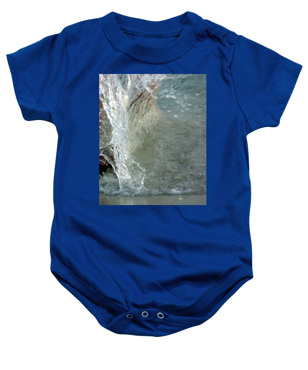 Water Baby Onesie featuring the photograph Splash by Janette Legg