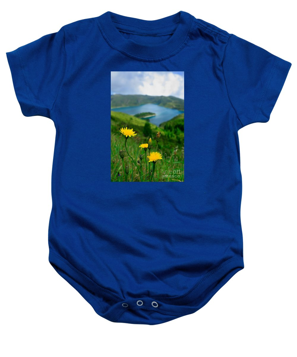 Caldera Baby Onesie featuring the photograph Springtime In Fogo Crater by Gaspar Avila