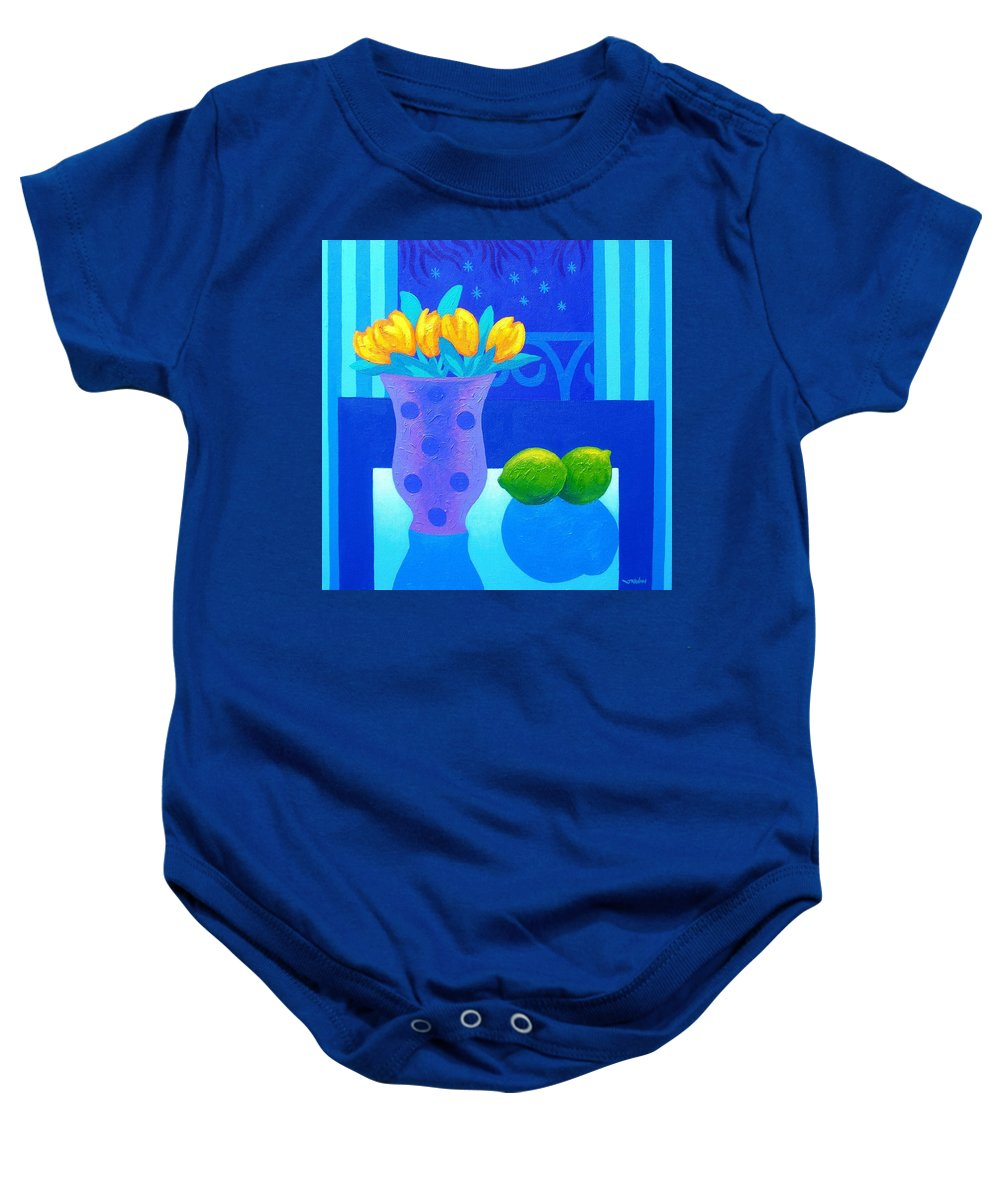 Acrylic Baby Onesie featuring the painting Still Life At Window IIi by John Nolan