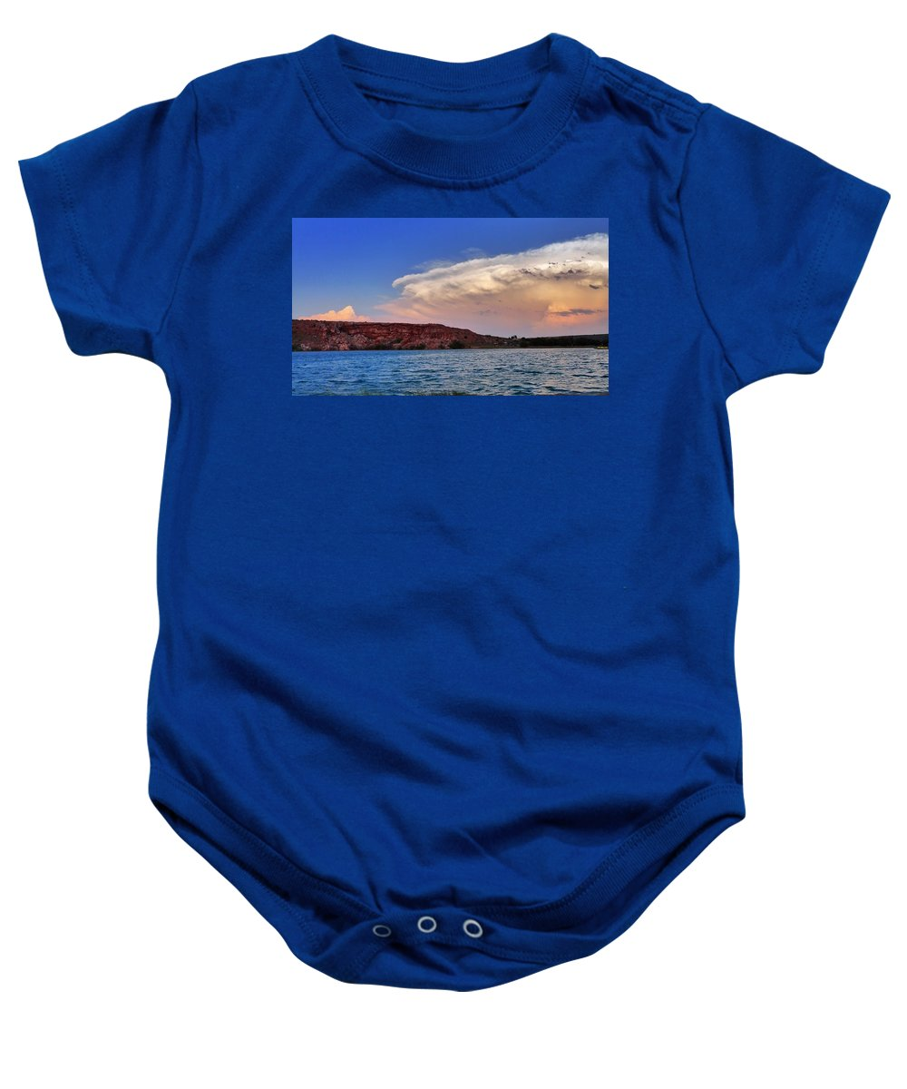 Skip Hunt Baby Onesie featuring the photograph Storm Brew by Skip Hunt