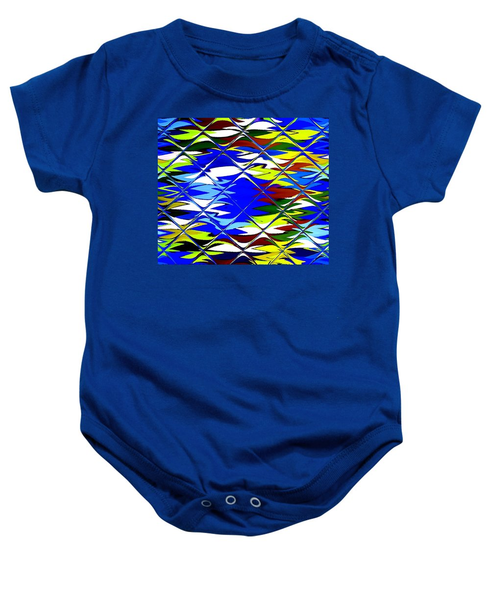 Announcement Baby Onesie featuring the photograph Sun Beach And Glass Catus 1 No. 1 H B by Gert J Rheeders