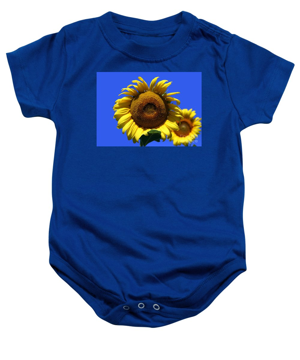 Sunflowers Baby Onesie featuring the photograph Sunflower Series 09 by Amanda Barcon