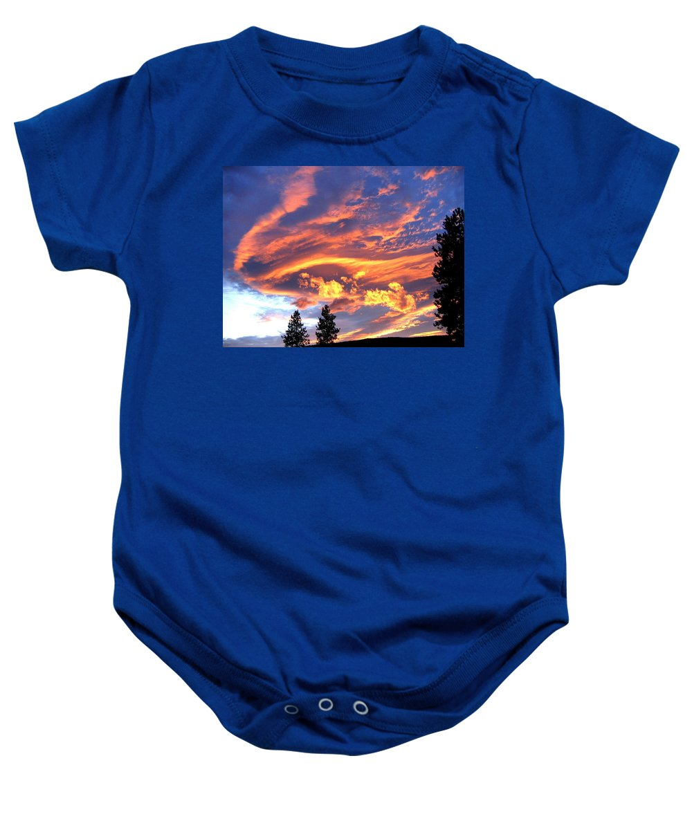 Sunset Baby Onesie featuring the photograph Sunset Extravaganza by Will Borden