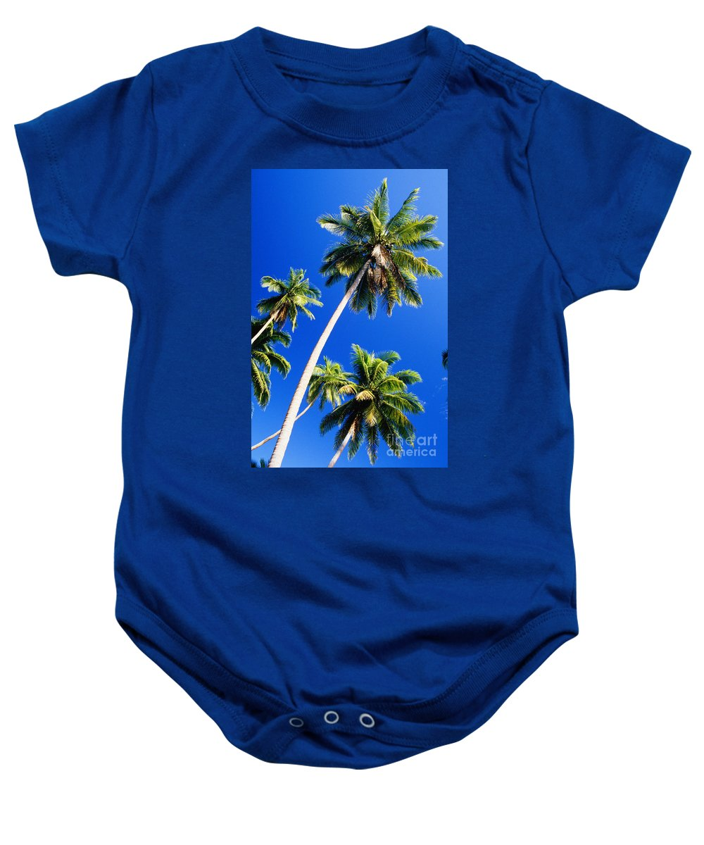 Afternoon Baby Onesie featuring the photograph Tall Palms by Peter Stone - Printscapes