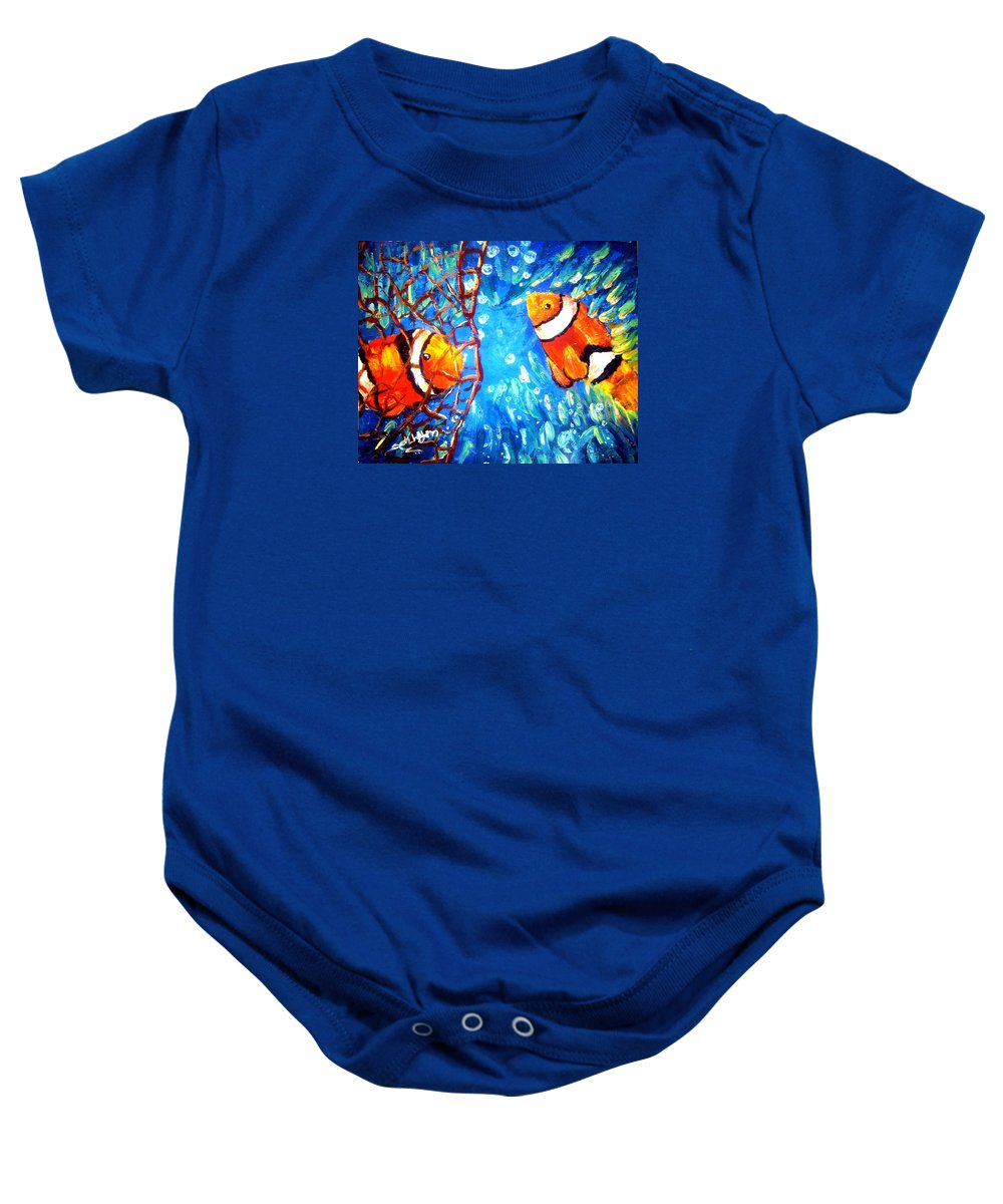Tangle Baby Onesie featuring the painting Tangled by Sathish K Sathyan