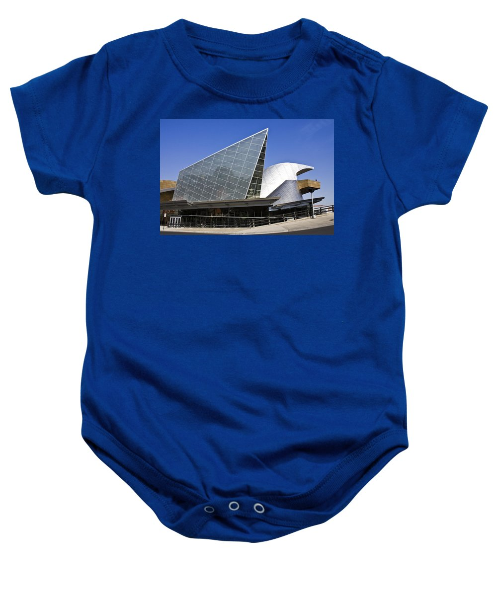 Roanoke Baby Onesie featuring the photograph Taubman Museum Of Art Roanoke Virginia by Teresa Mucha
