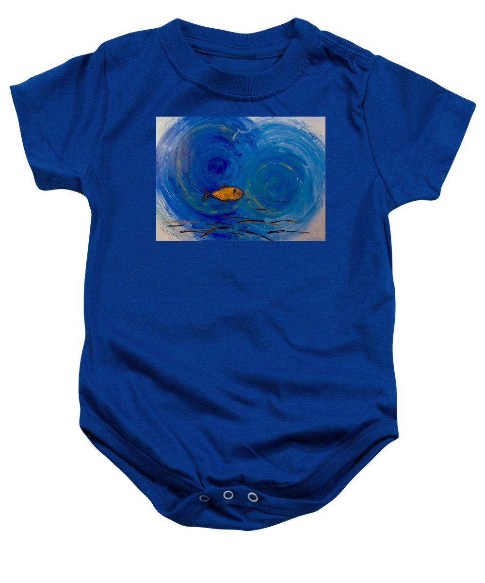Modern Art Baby Onesie featuring the painting The Choice by Valery Lobanov