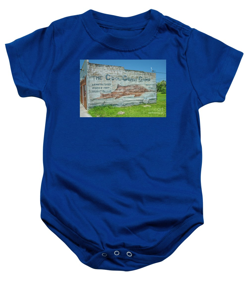 Advertisement Baby Onesie featuring the photograph The Cool Coast Camp by Tony Baca